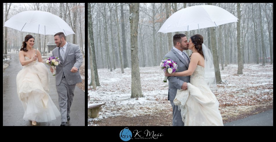 ambiance floral - reading pa wedding photographer - berks county wedding photographer - wedding photography in berks county - capriottis mcadoo wedding photographer - bride and groom first look - bride and groom winter photos - wedding photos in snow