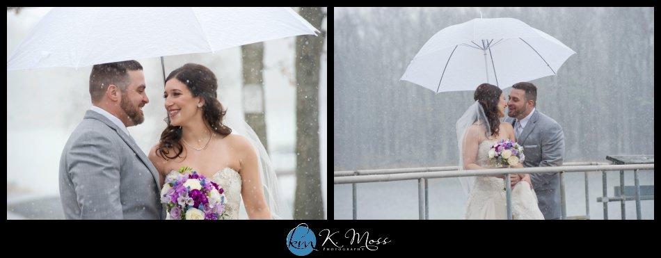 Bride and groom snow wedding photos as Capriottis, McAdoo PA   K. Moss Photography