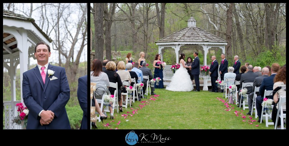 lehigh valley wedding photographer - rustic wedding - reading pa wedding photographer -bally spring inn wedding – bride ruffle ball gown - Mori lee wedding gown – Susankolarcouture - Sue annes bridal outlet - wedding bouquet - rose and peony bride bouquet - rose peony flowers – Distinctive Florals by Mary - outdoor wedding ceremony