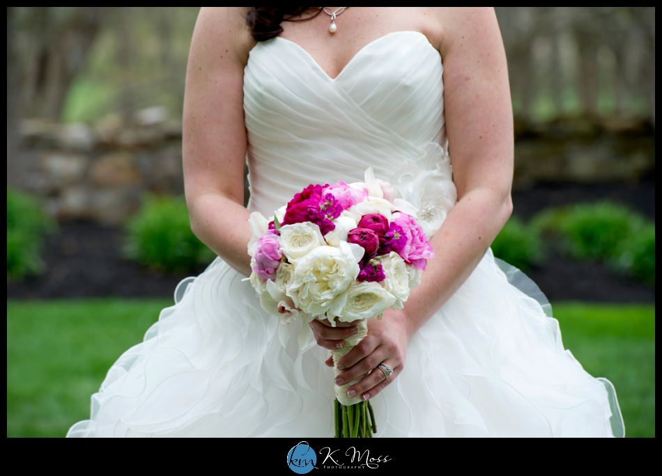 lehigh valley wedding photographer - rustic wedding - reading pa wedding photographer -bally spring inn wedding – bride ruffle ball gown - Mori lee wedding gown – Susankolarcouture - Sue annes bridal outlet - wedding bouquet - rose and peony bride bouquet - rose peony flowers – Distinctive Florals by Mary
