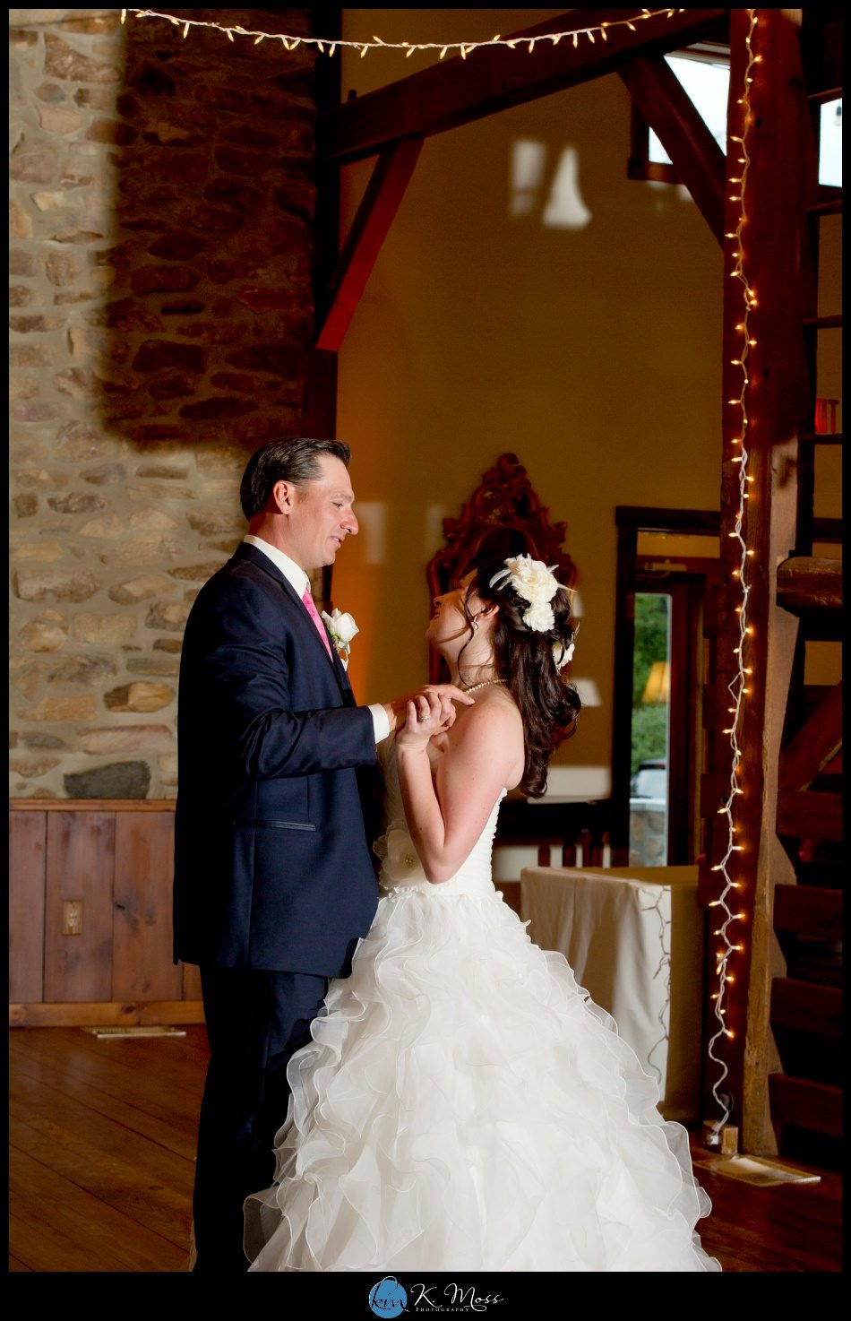 bally spring inn wedding – bride ruffle ball gown - Mori lee wedding gown – Susankolarcouture - Sue annes bridal outlet - wedding bouquet - rose and peony bride bouquet - rose peony flowers – Distinctive Florals by Mary - lehigh valley wedding photographer - rustic wedding - reading pa wedding photographer – dj jimbo