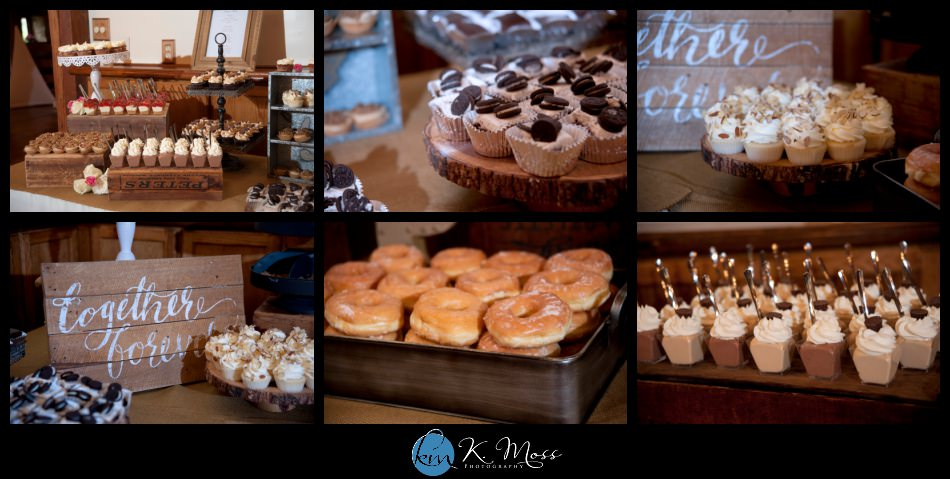 bally spring inn wedding – bride ruffle ball gown - Mori lee wedding gown – Susankolarcouture - Sue annes bridal outlet - wedding bouquet - rose and peony bride bouquet - rose peony flowers – Distinctive Florals by Mary - lehigh valley wedding photographer - rustic wedding - reading pa wedding photographer – dj jimbo- Bittersweetpa - wedding dessert table - glazed donuts -