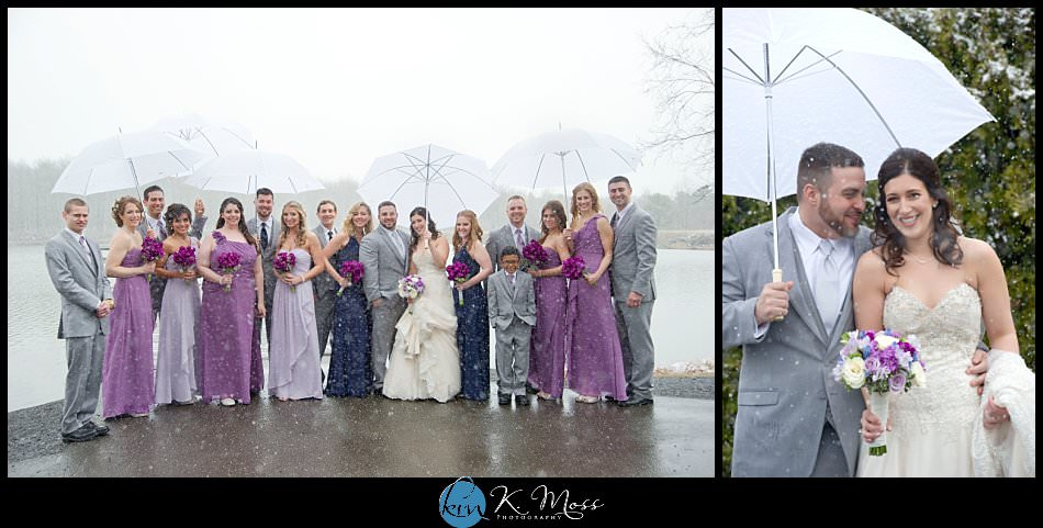 How to manage rain on your wedding day