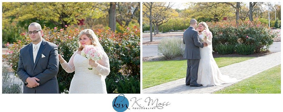 Hanover Grand Ballroom bride and groom outdoor first look