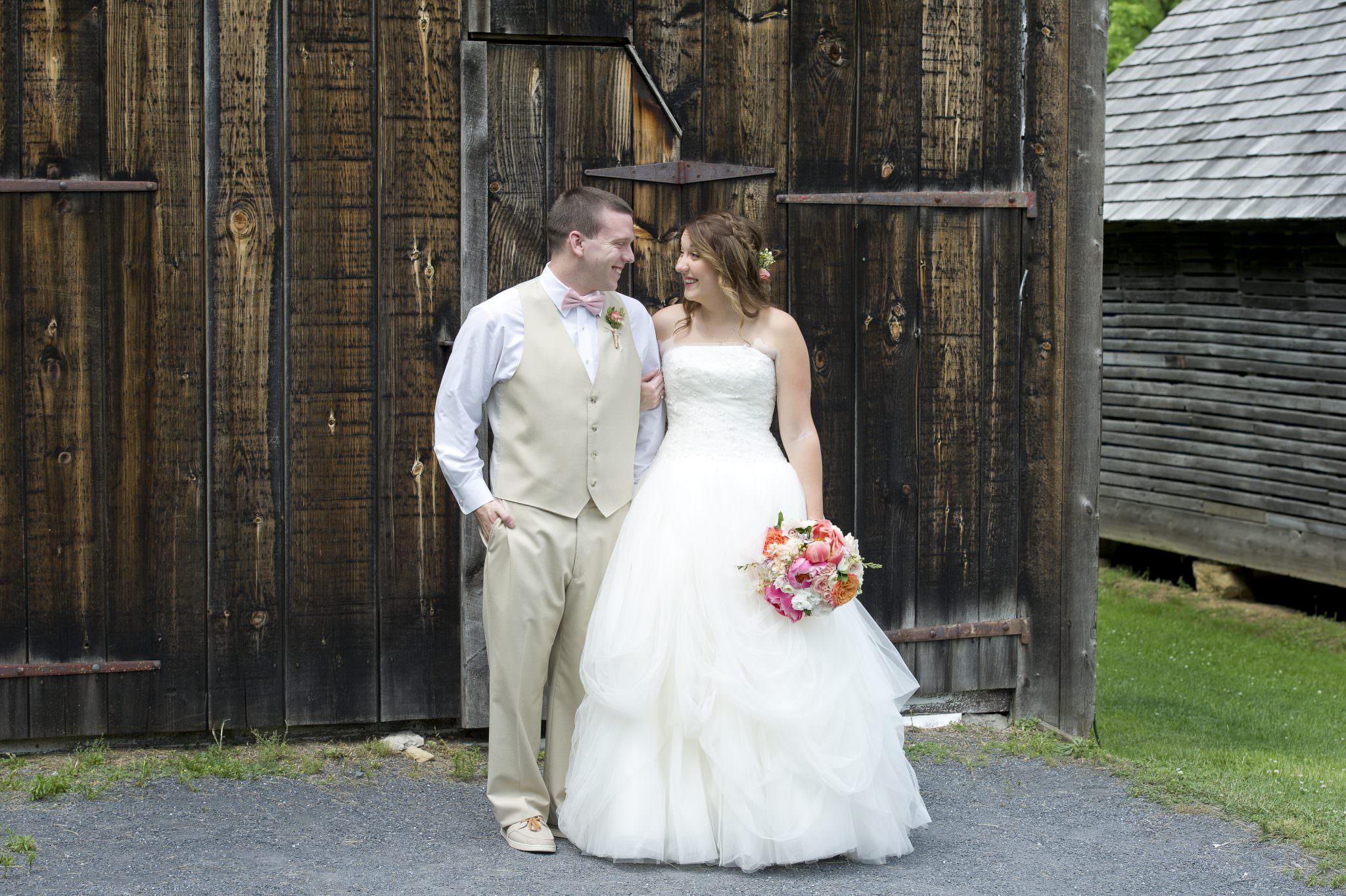 Rustic Spring Wedding Bride and Groom photo