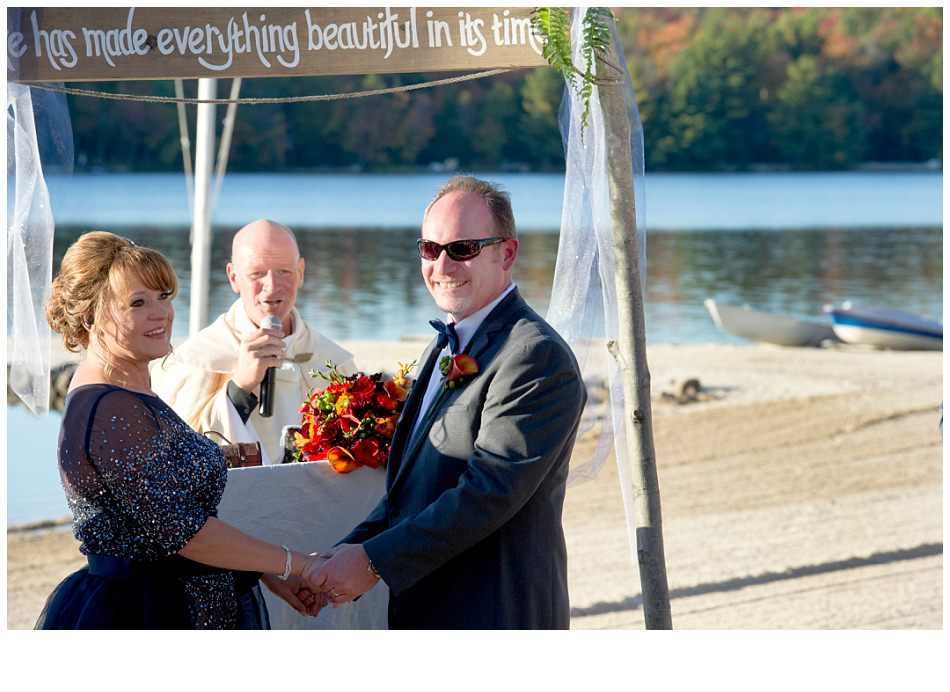 Lake Naomi PA Beachfront-ceremony| k moss photography