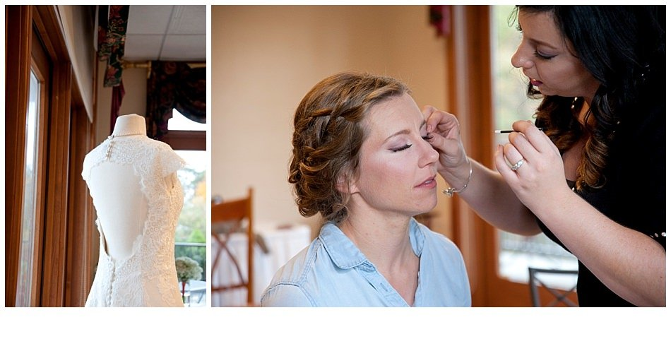 Vintage wedding gown, bride getting ready | K. Moss Photography
