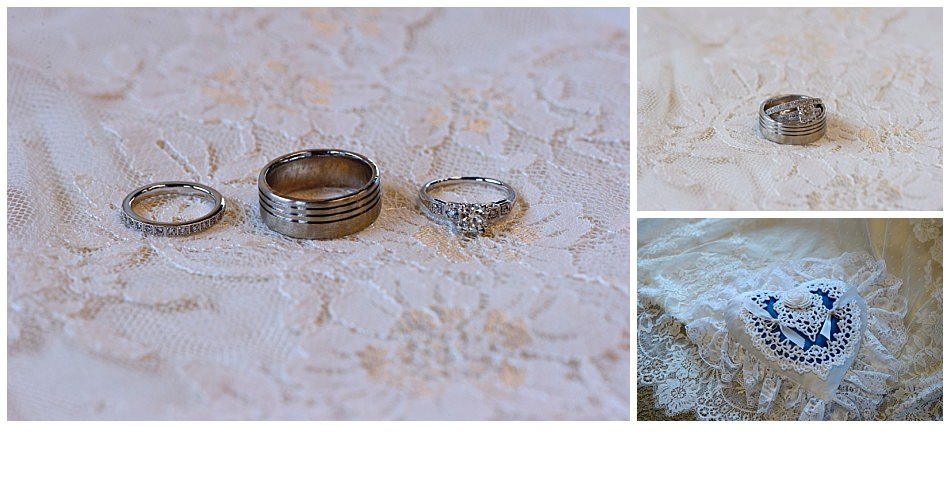 Bride and groom wedding rings | K. Moss Photography