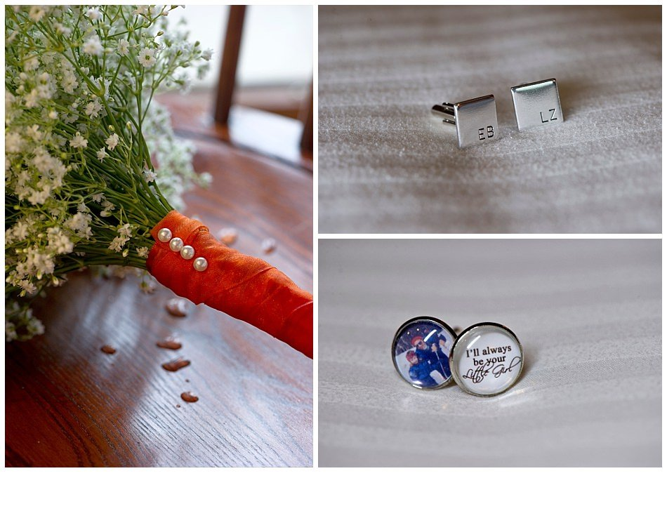 Personalized monogram cuff links | K. Moss Photography