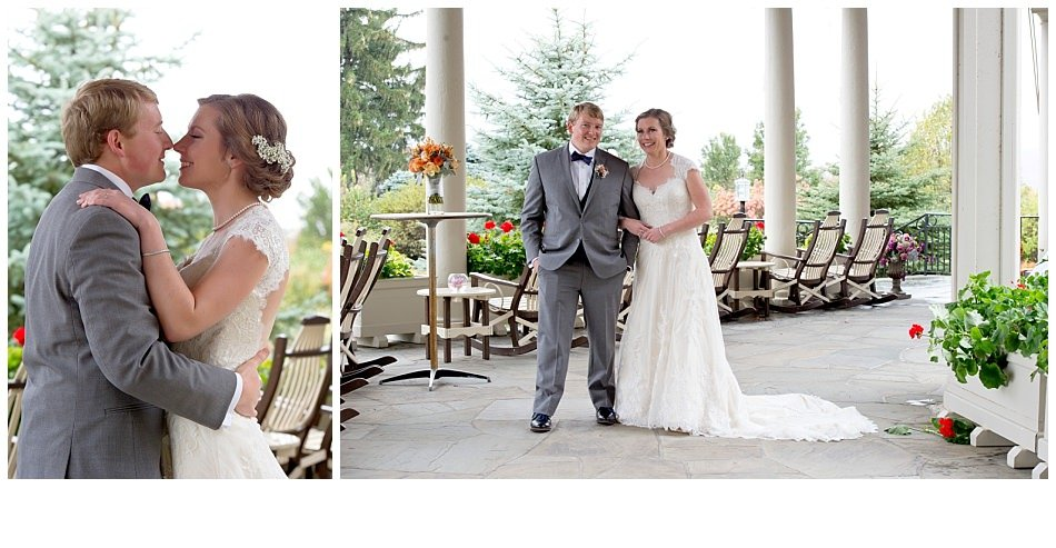 Little White Dress Denver CO -Outdoor fall wedding photo | K. Moss Photography