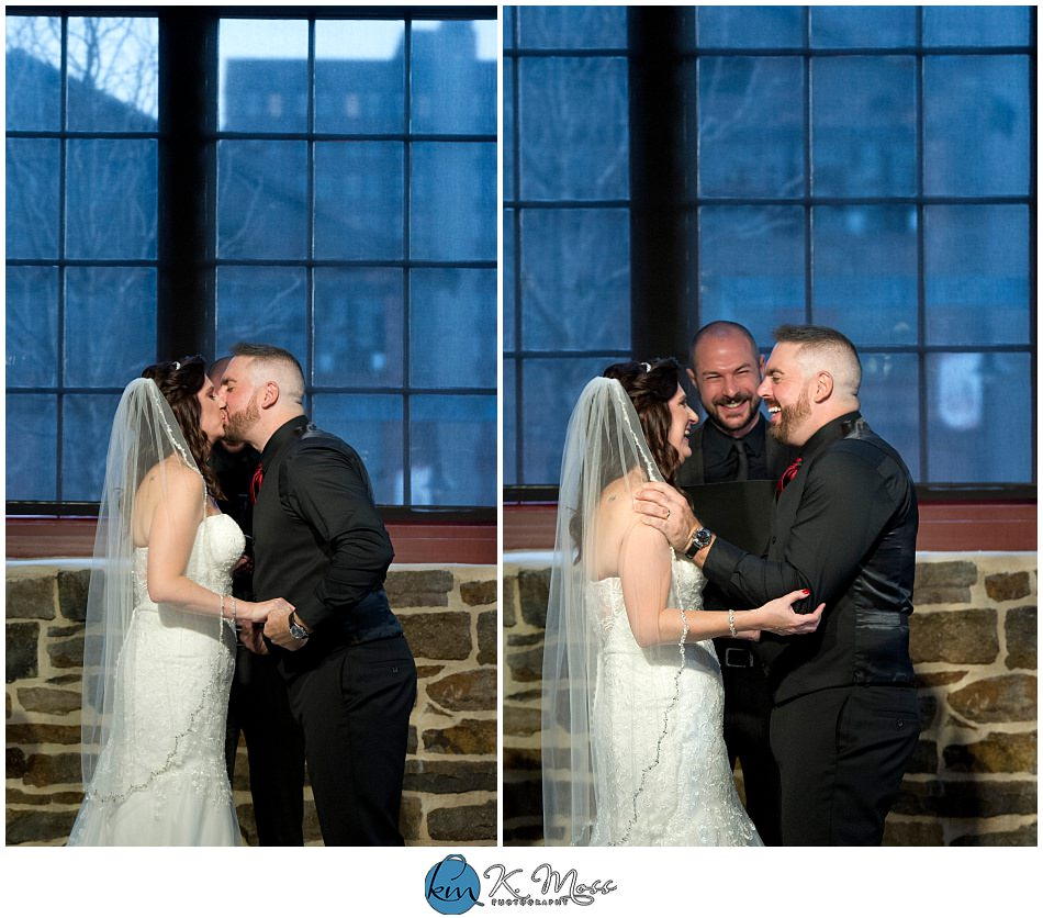 indoor wedding ceremony - berks county wedding photographer - Steelstacks Bethlehem wedding | K. Moss Photography