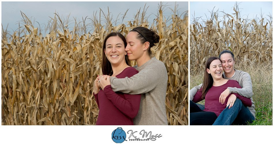 Ontelaunee Orchards Fall Engagement Photos | K. Moss Photography
