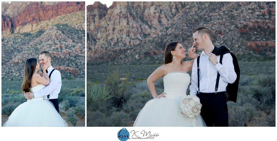 Las Vegas Nevada mountain wedding photos | K. Moss Photography