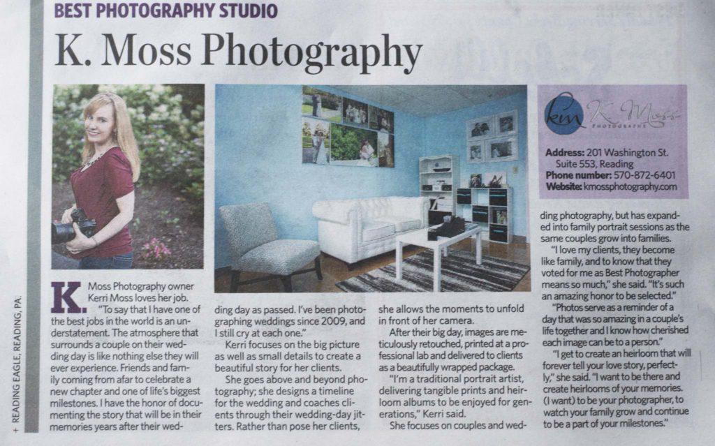 Best Photography Studio Award Berks County PA | K. Moss Photography